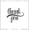 Thank you The phrase handmade Stylish modern vector image vector image