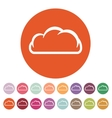 The cloud icon Cloud symbol Flat vector image