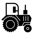 tractor solid icon agronomy