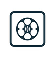 video film icon Rounded squares button vector image vector image