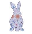 Vintage blue rabbit vector image vector image