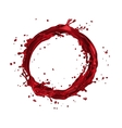 wine splash circle vector image