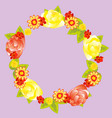 wreath from flower and foliages vector image vector image