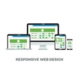 Responsive web design concept Website page vector image