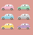 Side View Of Colorful Sedan Cars vector image