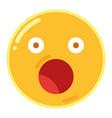 emoji of astonishment in flat design icon vector image