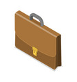 3d isometric flat concept briefcase vector image