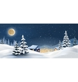 a winter landscape vector image vector image