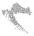 abstract schematic map of croatia from the black vector image vector image