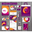 artistic corporate identity template with vector image vector image