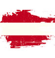austrian scratched flag vector image vector image