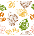 Autumn leaf stamps seamless pattern vector image vector image