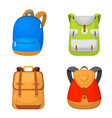 back to school kids backpack vector image vector image
