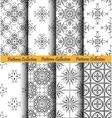 Backgrounds Floral Patterns Set vector image vector image