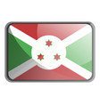 burundi flag on white background vector image vector image
