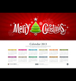 Calendar 2013 Merry Christmas vector image