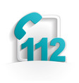 call 112 icon vector image vector image
