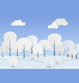 cardboard paper forest with vector image vector image