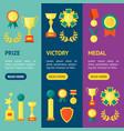 cartoon awards banner vecrtical set vector image
