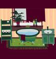 cartoon flat bathroom interior vector image vector image