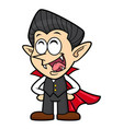 cartoon funny dracula character orders halloween vector image