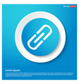 chain link icon abstract blue web sticker button vector image vector image