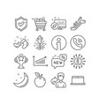 chart laptop and new icons shopping cart vector image vector image