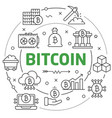 circle bitcoin crypto innovations vector image
