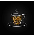 coffee cup sign design background vector image