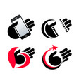 concept objects in hand icons eps10 vector image