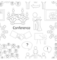 Conference icons pattern vector image vector image