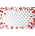 confetti serpentine balls and red ribbons vector image