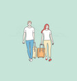 couple travelling tourism holiday vacation vector image
