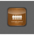 Customer service wood application icons vector image vector image