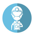doctor professional surgery mask hat clipboard vector image vector image