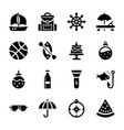 fun activities icons vector image vector image