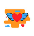 heart with wings icon trendy modern concept vector image vector image
