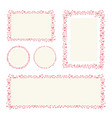 hearts frame for your valentines day greeting vector image vector image