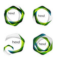 hexagon logo icon templates vector image