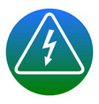 high voltage danger sign white icon in vector image vector image
