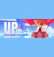 hot air balloons fest cartoon web banner travel