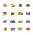 house icons set cartoon vector image vector image