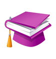 icon book and graduation vector image vector image