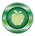 icon green apple vector image vector image