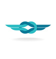 Knot logo with wings vector image vector image