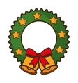 merry christmas bell isolated icon vector image vector image