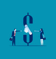 money handshake business agreement concept vector image