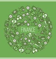 money pattern financial bank money-box with vector image vector image