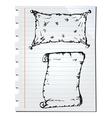 notebook sketch vector image vector image