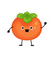 persimmon characters isolated on white vector image